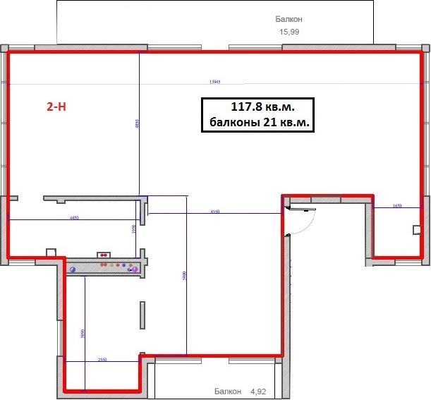 Своб. план., 119.52 м², 2 этаж