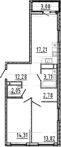 3Е-к.кв, 66.16 м²