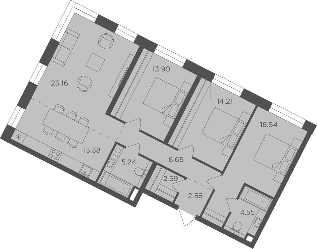 4Е-к.кв, 102.78 м², 9 этаж