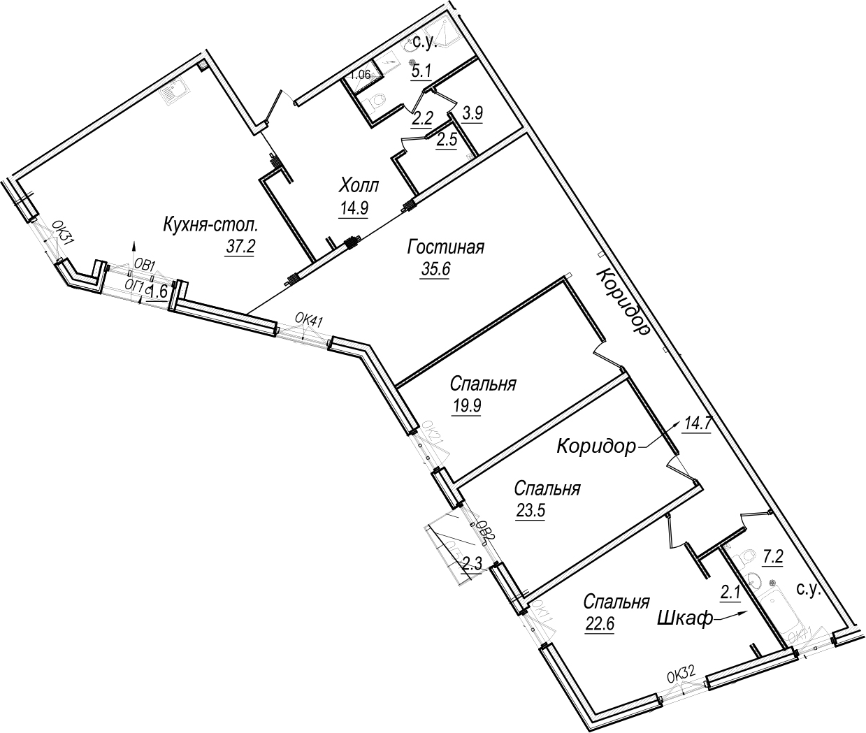 5Е-к.кв, 192.9 м²