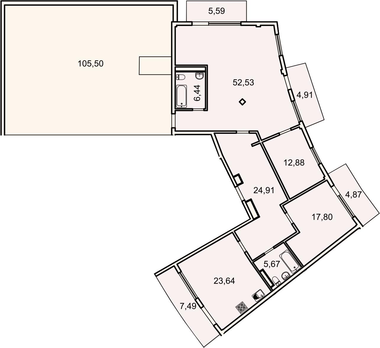 4Е-комнатная, 150.7 м²– 2