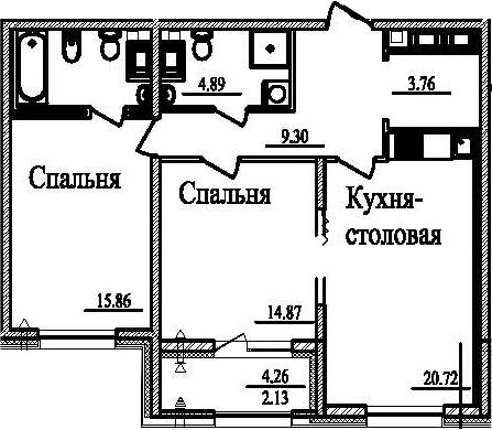 3-к.кв (евро), 78.73 м²