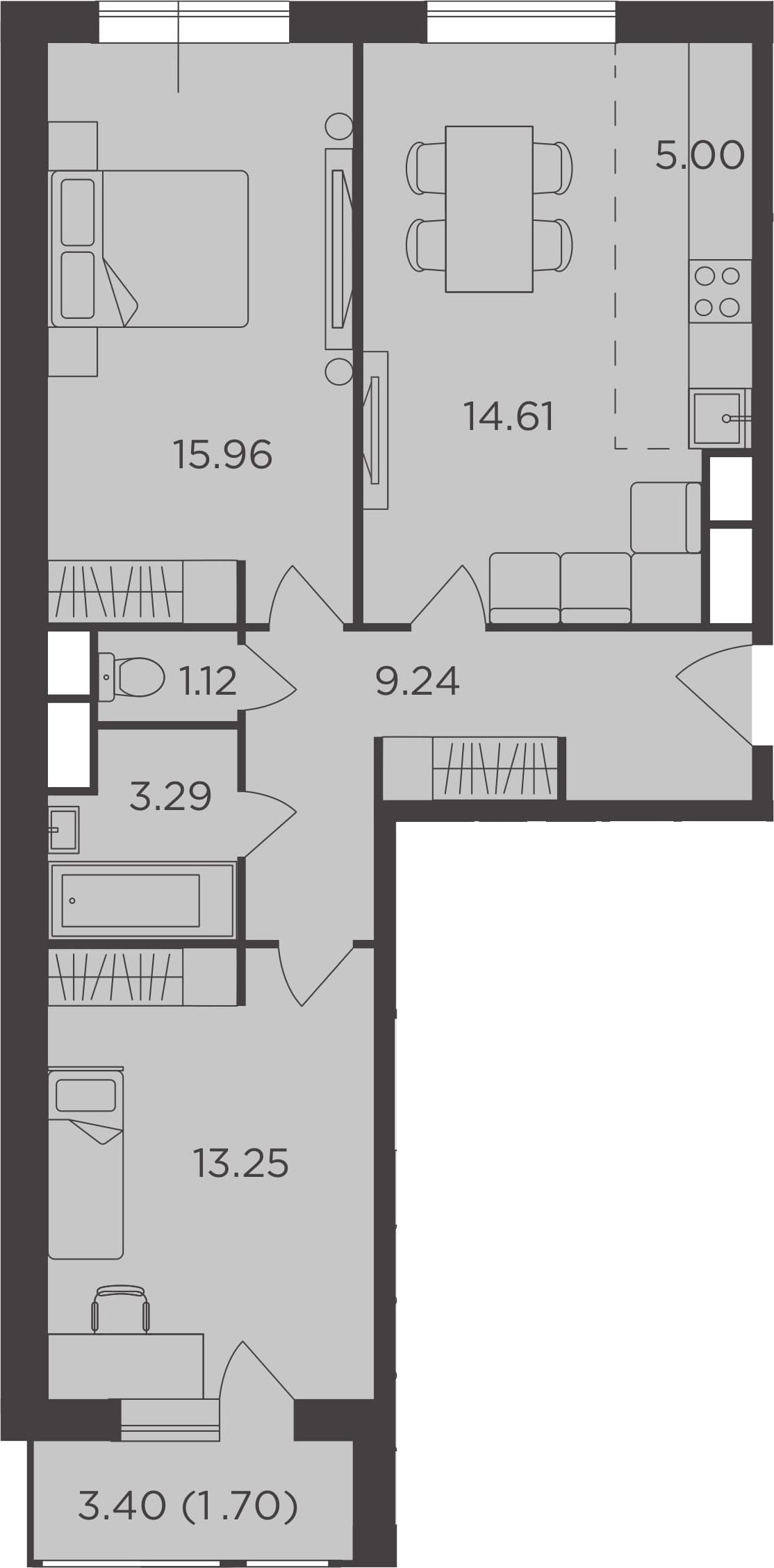 3Е-к.кв, 64.17 м²