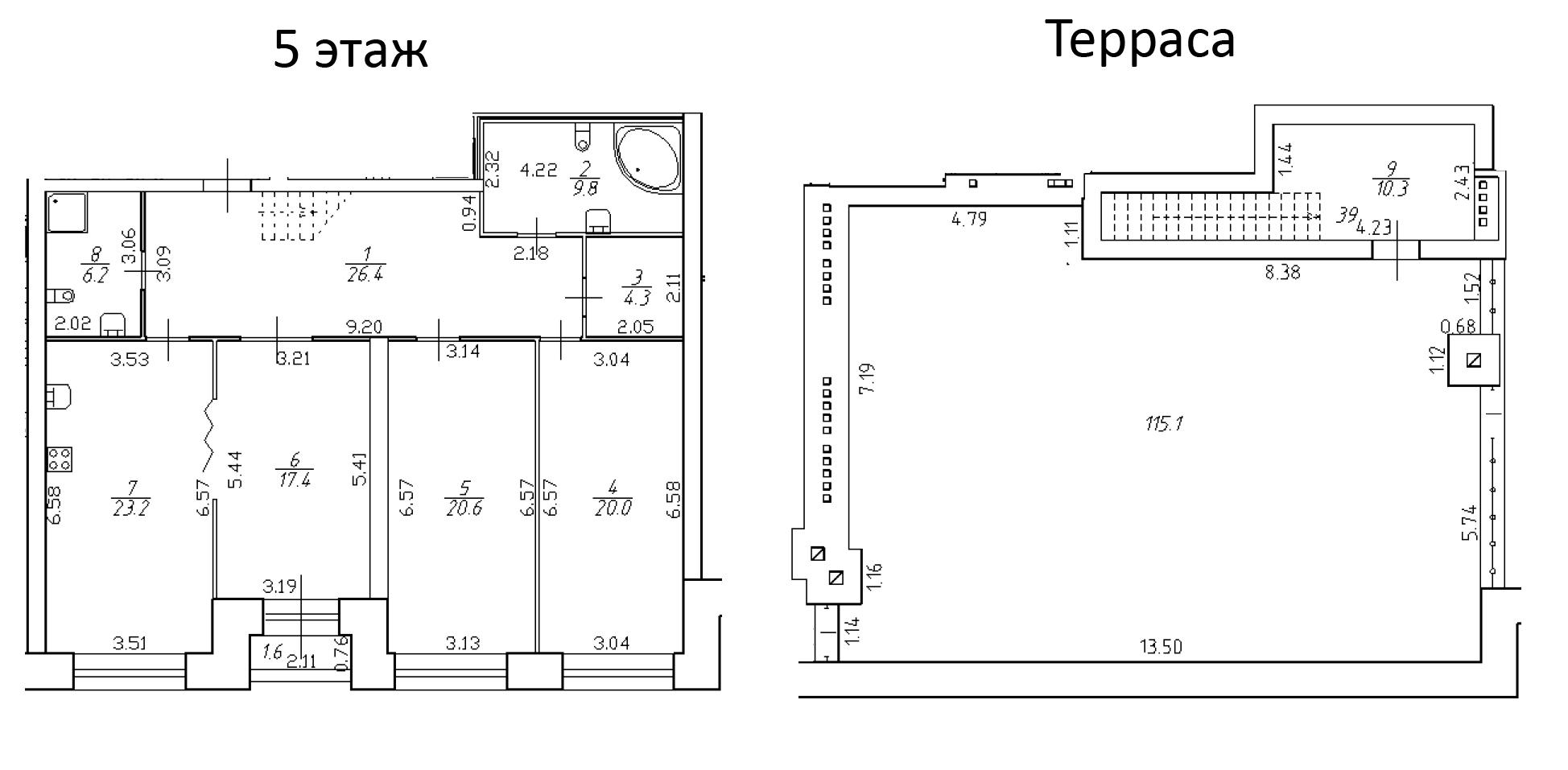 4-к.кв (евро), 254.8 м²