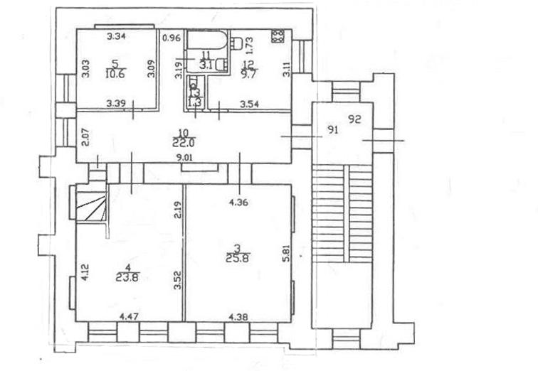3-к.кв, 97.26 м²