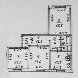 3-к.кв, 69 м²
