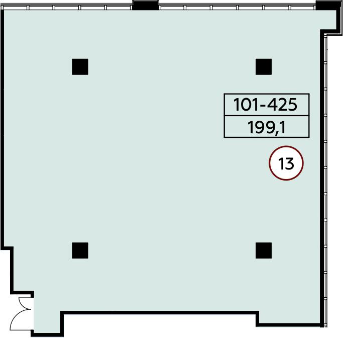 Коммерческое помещение, 199.1 м²– 2