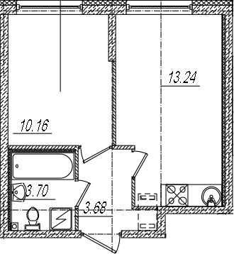 2Е-к.кв, 30.78 м²