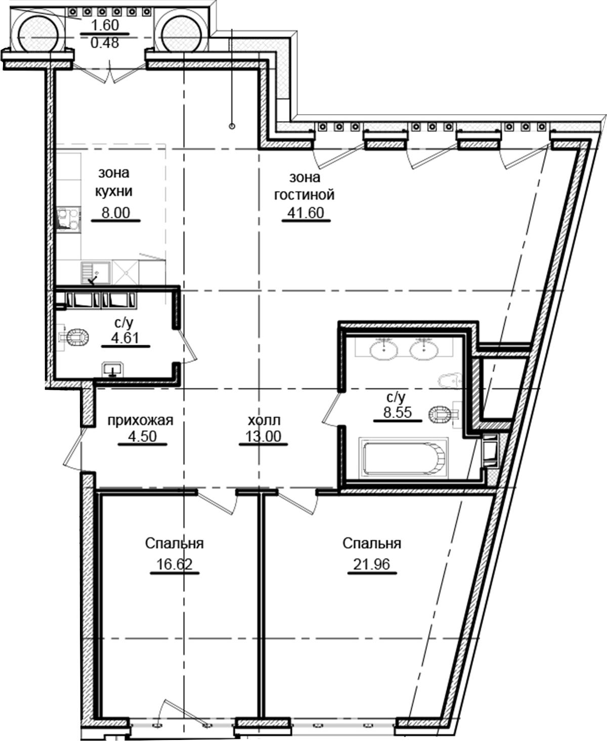 3Е-к.кв, 119.32 м²