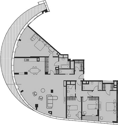 Свободная планировка, 212.9 м², 20 этаж – Планировка
