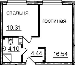 2Е-к.кв, 35.39 м²