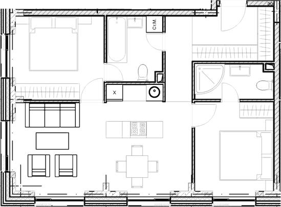 Свободная планировка, 61.1 м²– 2