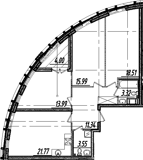 4Е-комнатная квартира, 90.47 м², 5 этаж – Планировка