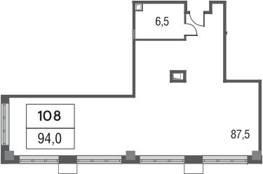 Свободная планировка, 94 м²– 2