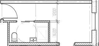 Студия, 15.59 м²– 2