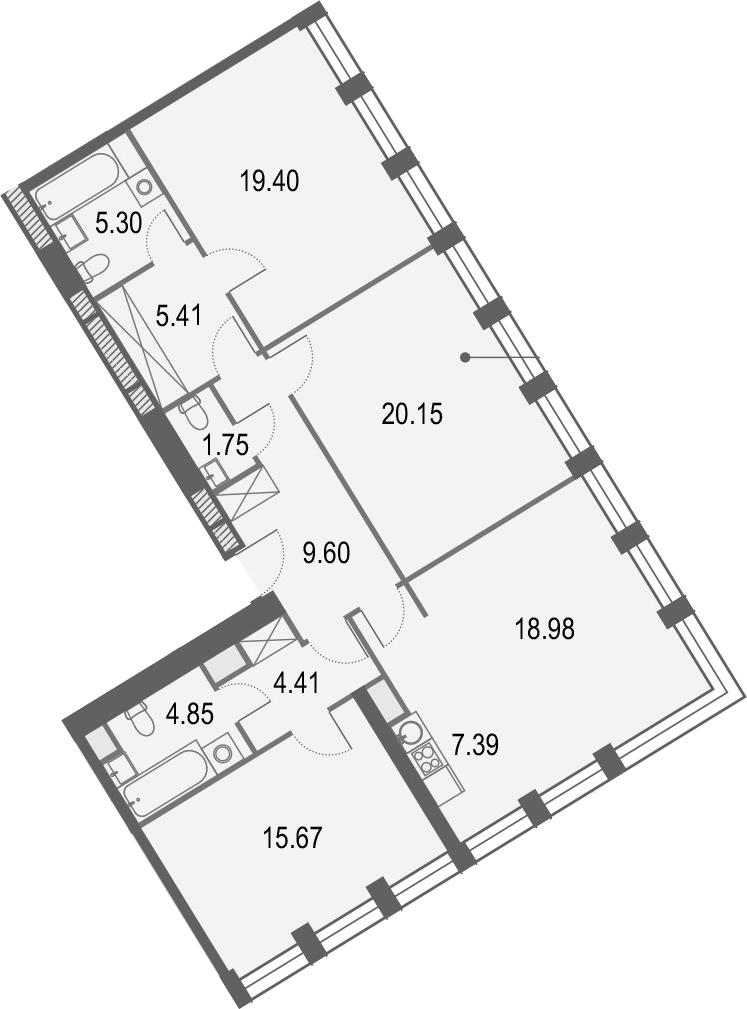 5Е-комнатная, 112.91 м²– 2