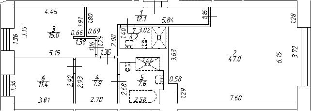 4Е-к.кв, 105.2 м², от 3 этажа