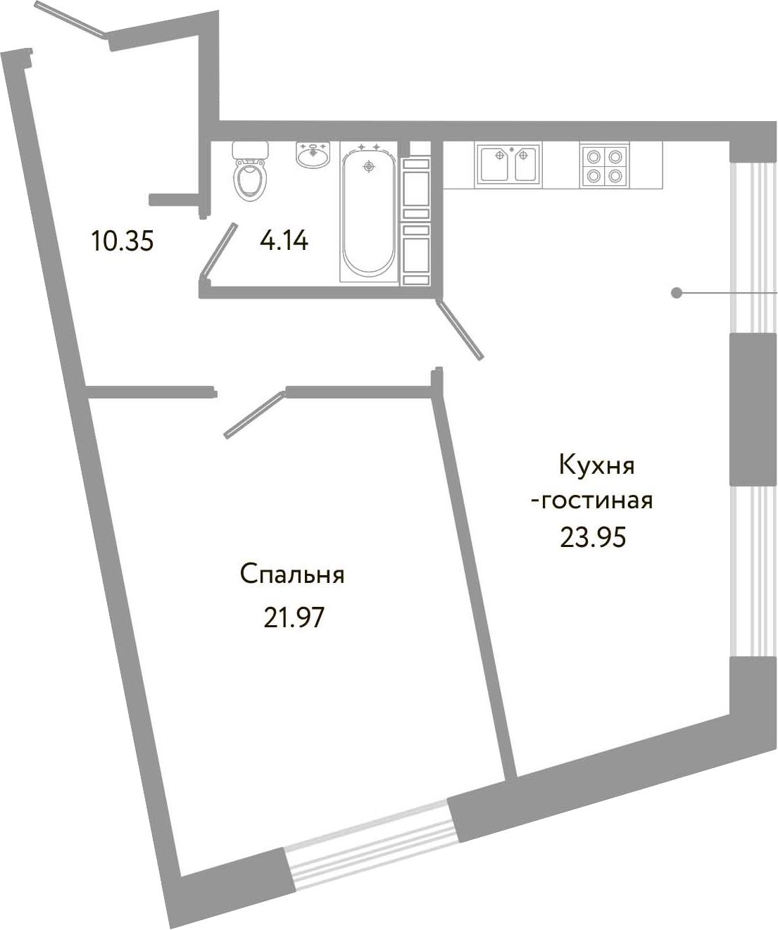 2-к.кв (евро), 60.41 м²