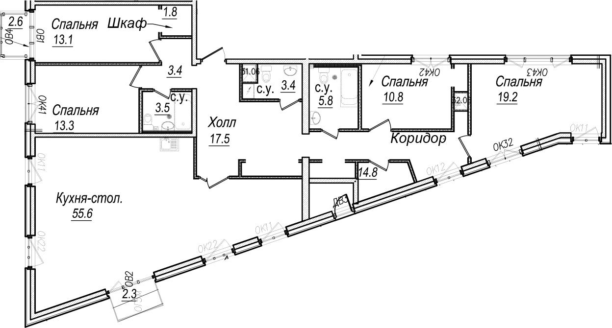 5Е-к.кв, 163.7 м²