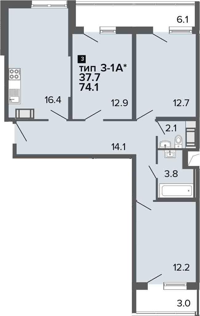 4-к.кв (евро), 83.2 м²