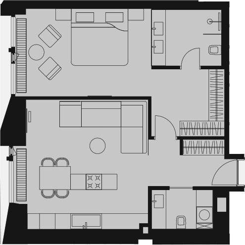 Своб. план., 65.43 м²