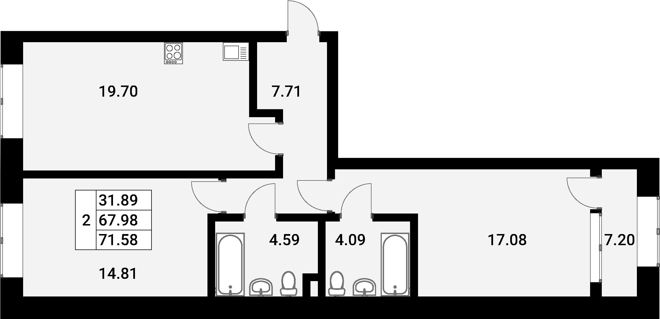 3-к.кв (евро), 75.18 м²