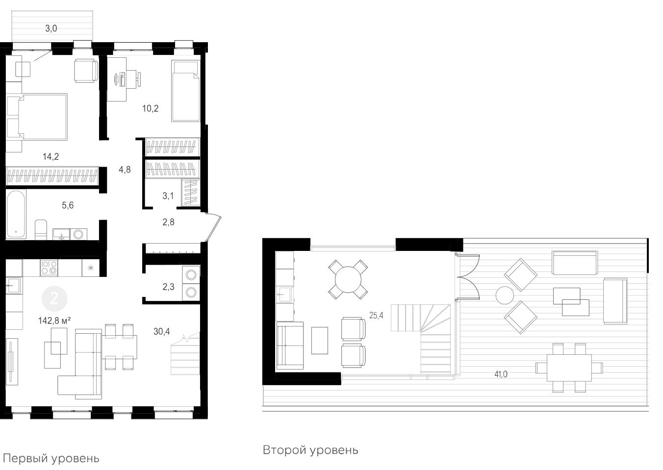 3Е-к.кв, 142.8 м²