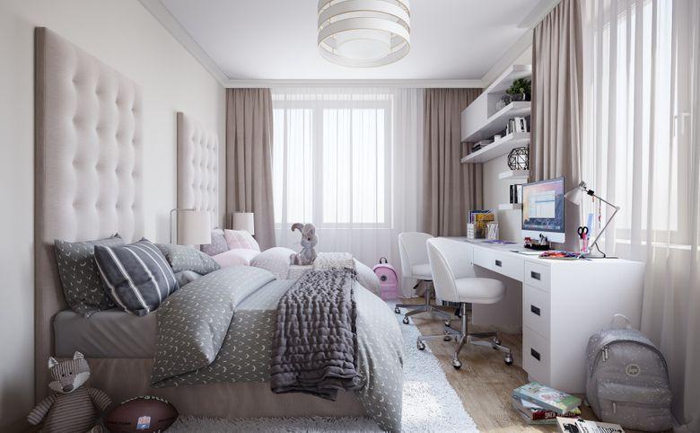 3Е-комнатная квартира, 57.7 м², 6 этаж – 3
