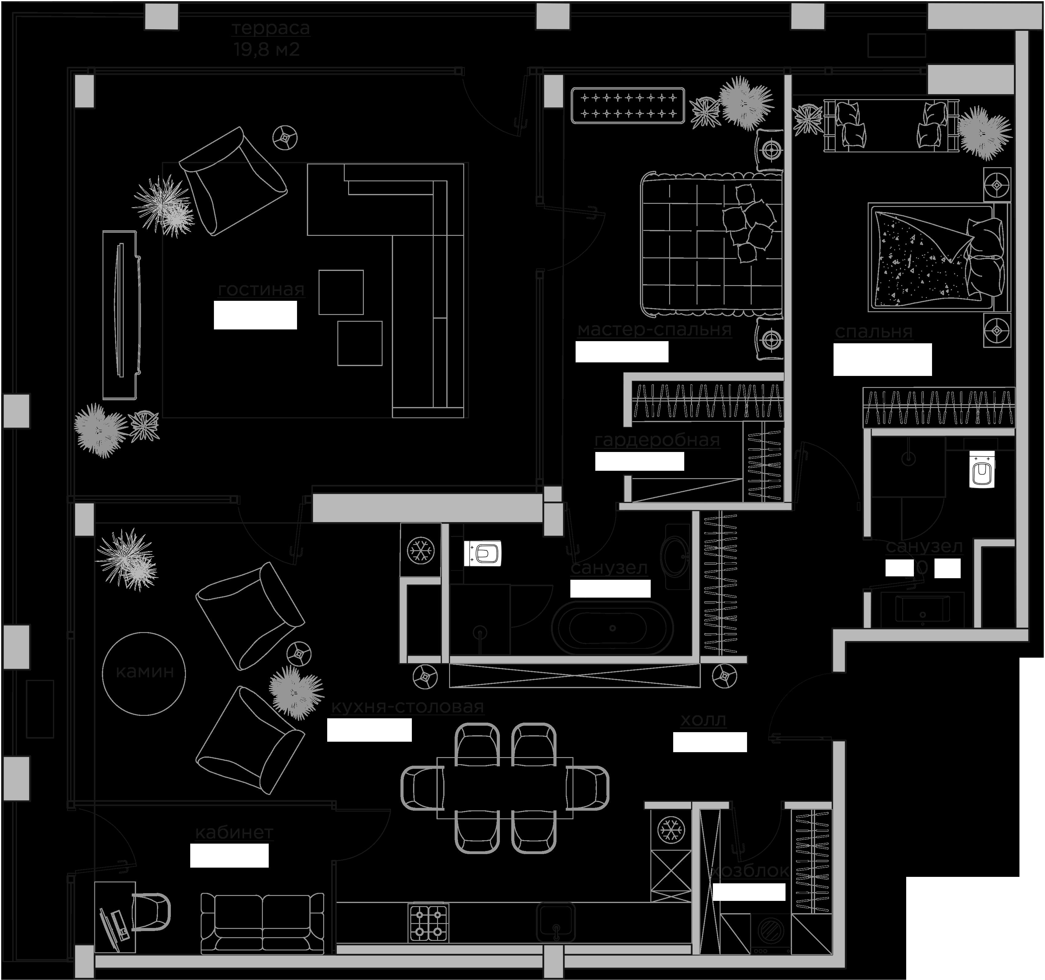 Свободная планировка, 182.2 м²– 2