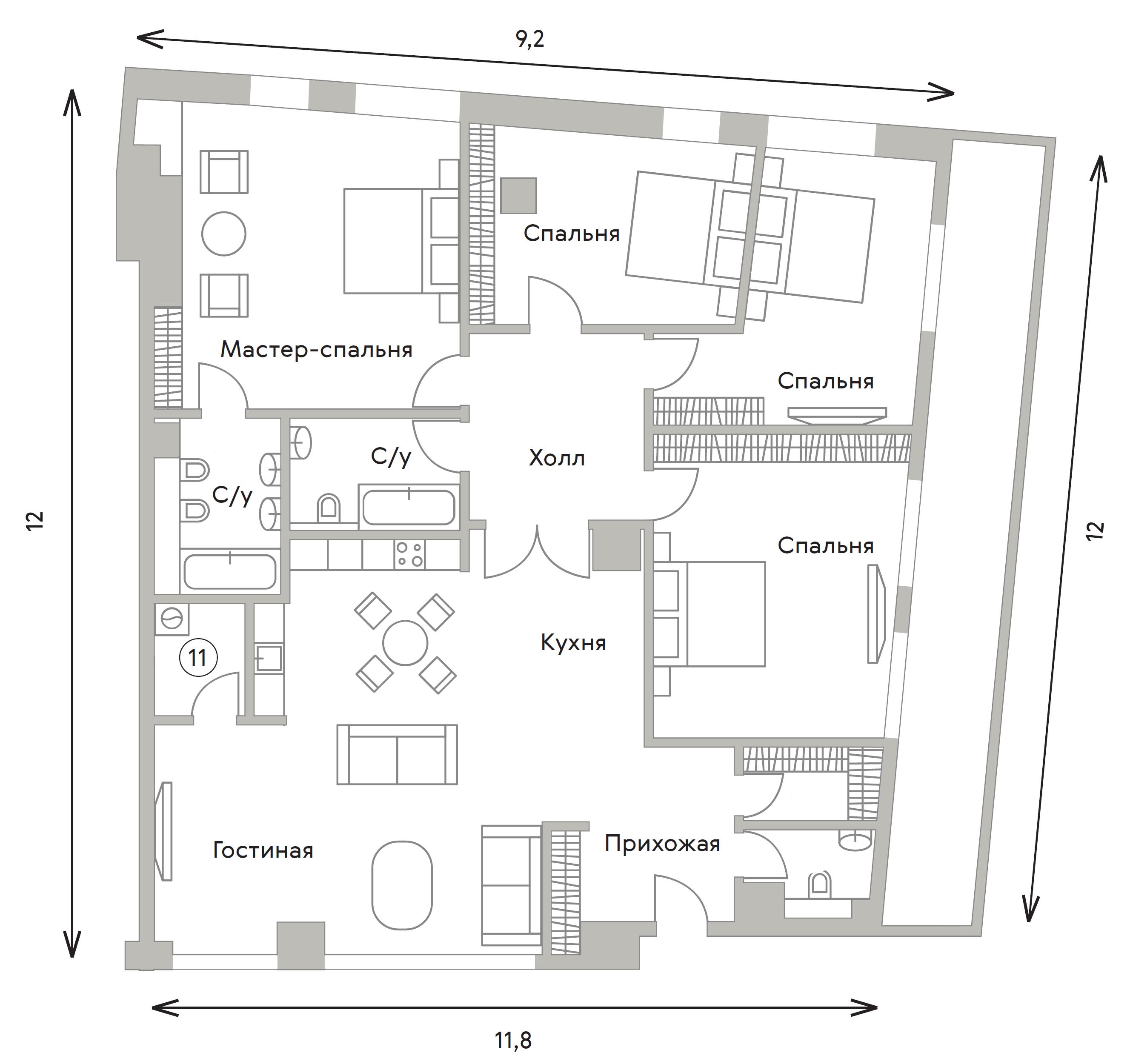 5Е-к.кв, 179.5 м²