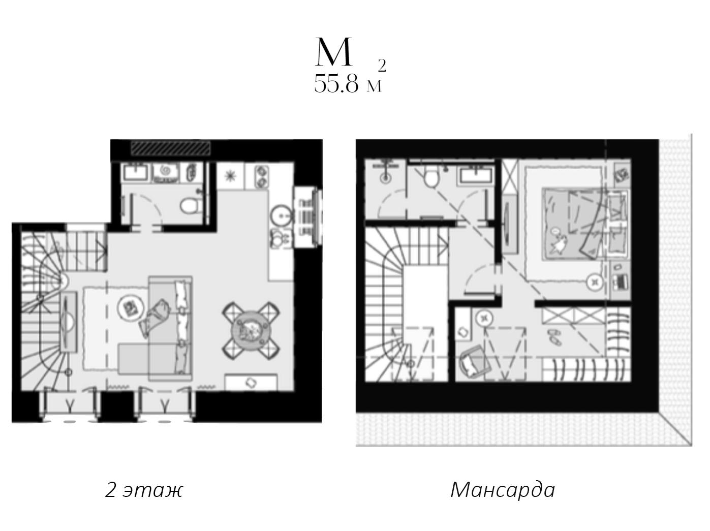 Своб. план., 55.8 м²