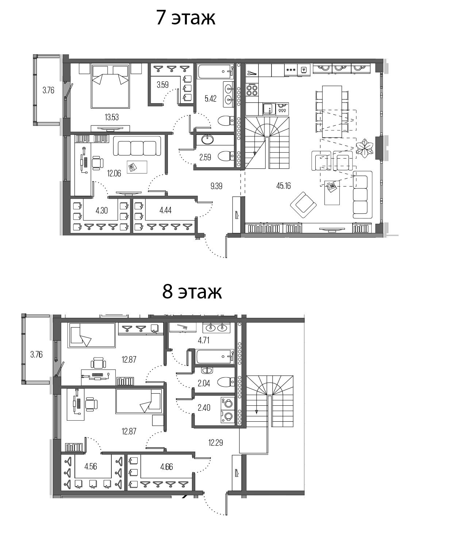 5Е-комнатная, 156.88 м²– 2