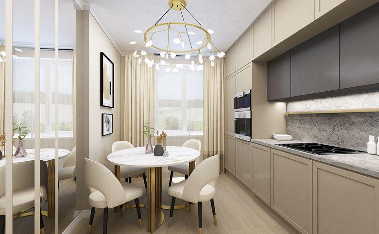3Е-комнатная квартира, 55.62 м², 2 этаж – 5