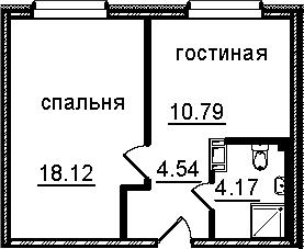 1-к.кв, 37.62 м², от 6 этажа