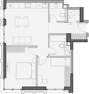 Свободная планировка, 58.1 м²– 2