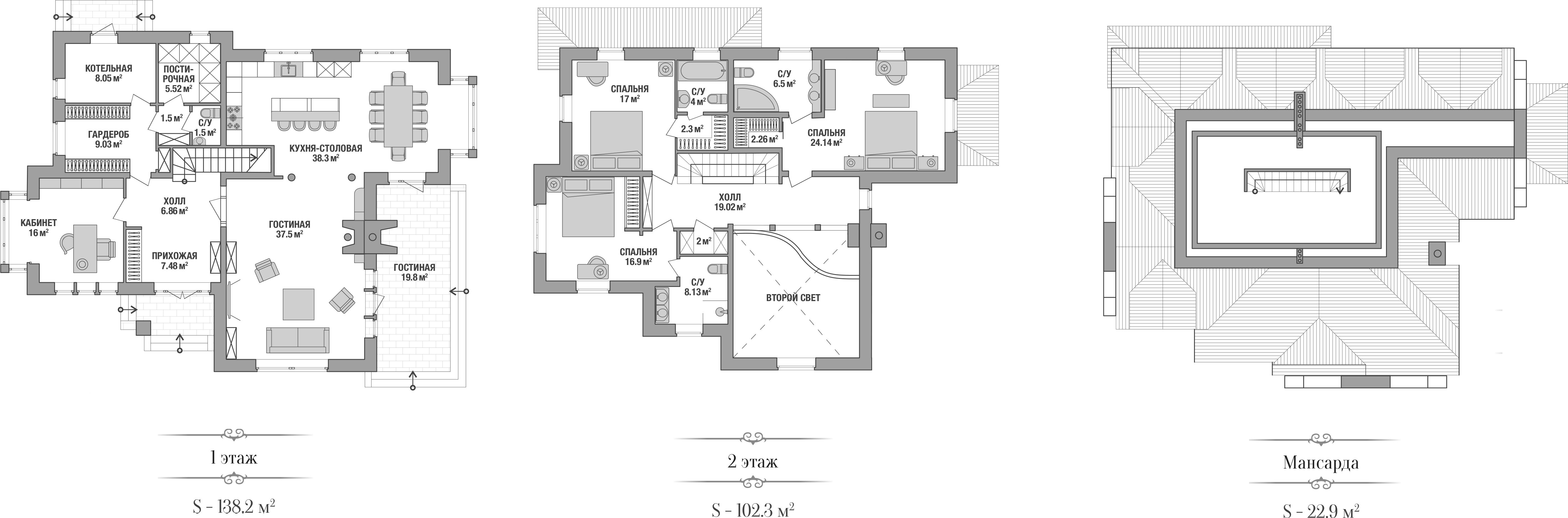 Коттедж, 263 м²