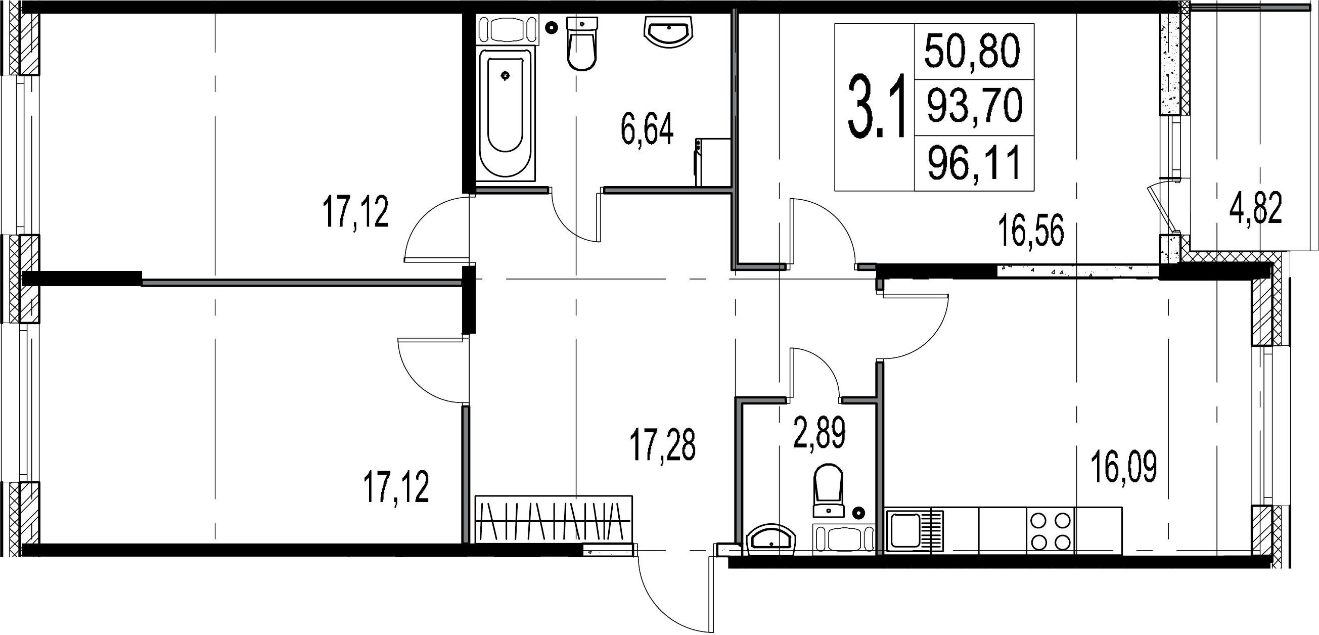 4-к.кв (евро), 98.52 м²