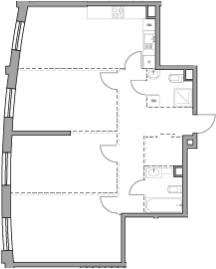 Своб. план., 89.33 м², 35 этаж