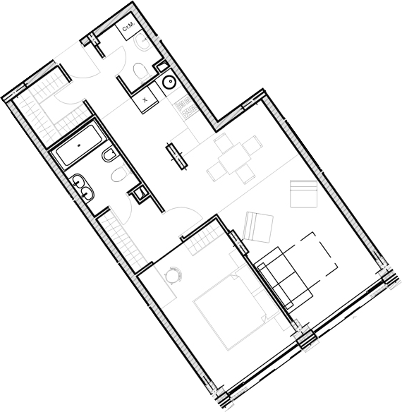 Свободная планировка, 55.3 м²– 2