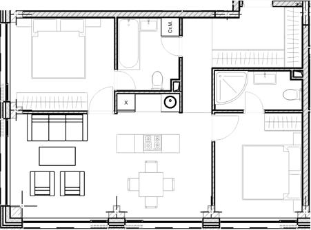 Свободная планировка, 61.98 м²– 2