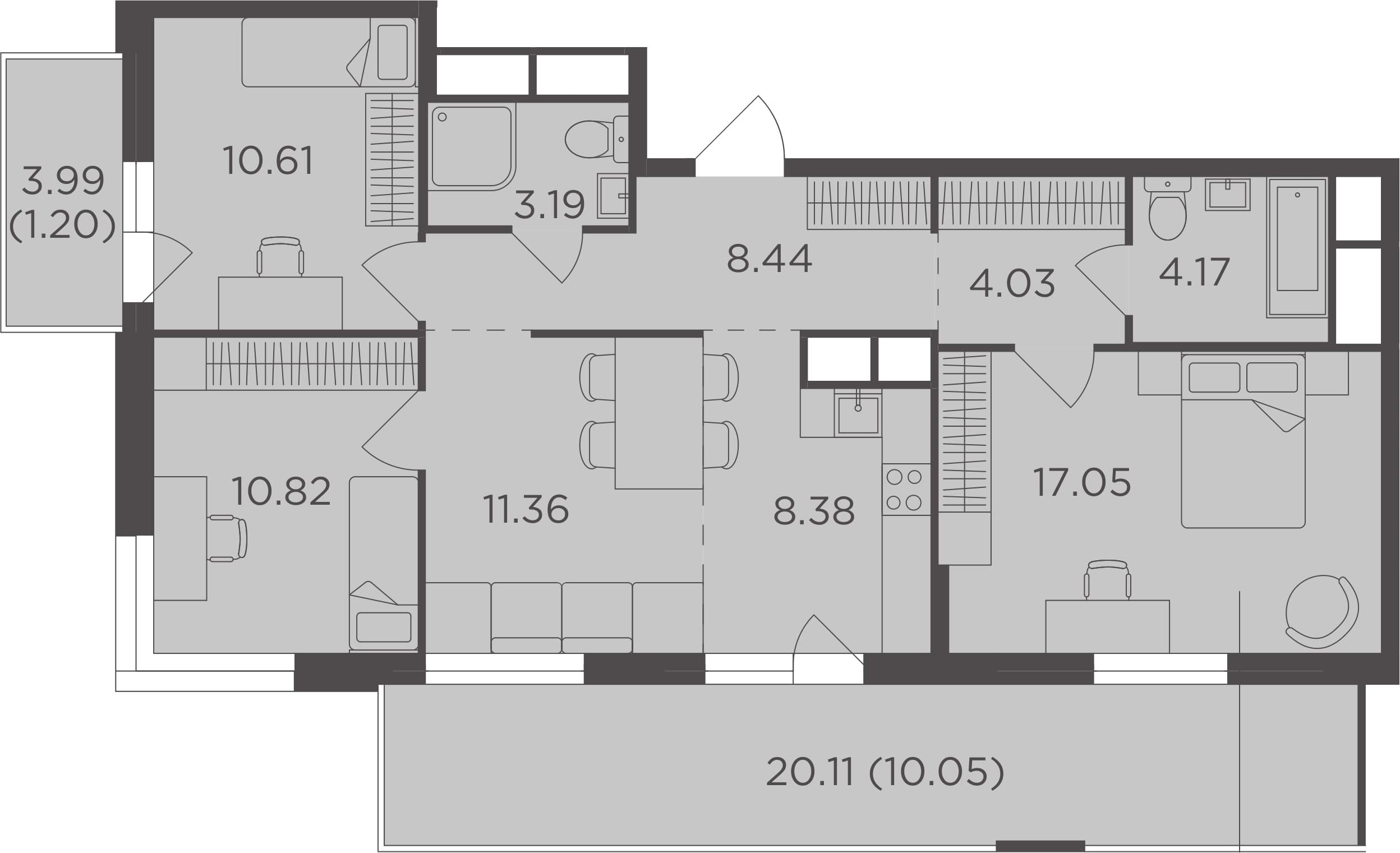 4Е-к.кв, 89.3 м²