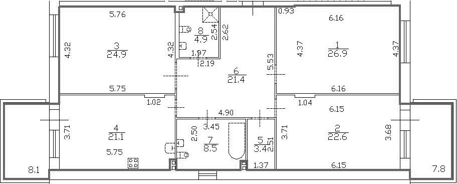 4-к.кв (евро), 149.6 м²