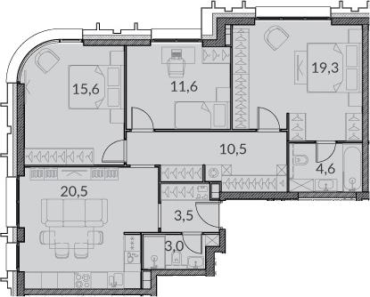 4Е-к.кв, 88.6 м²