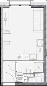 Свободная планировка, 20.6 м²– 2