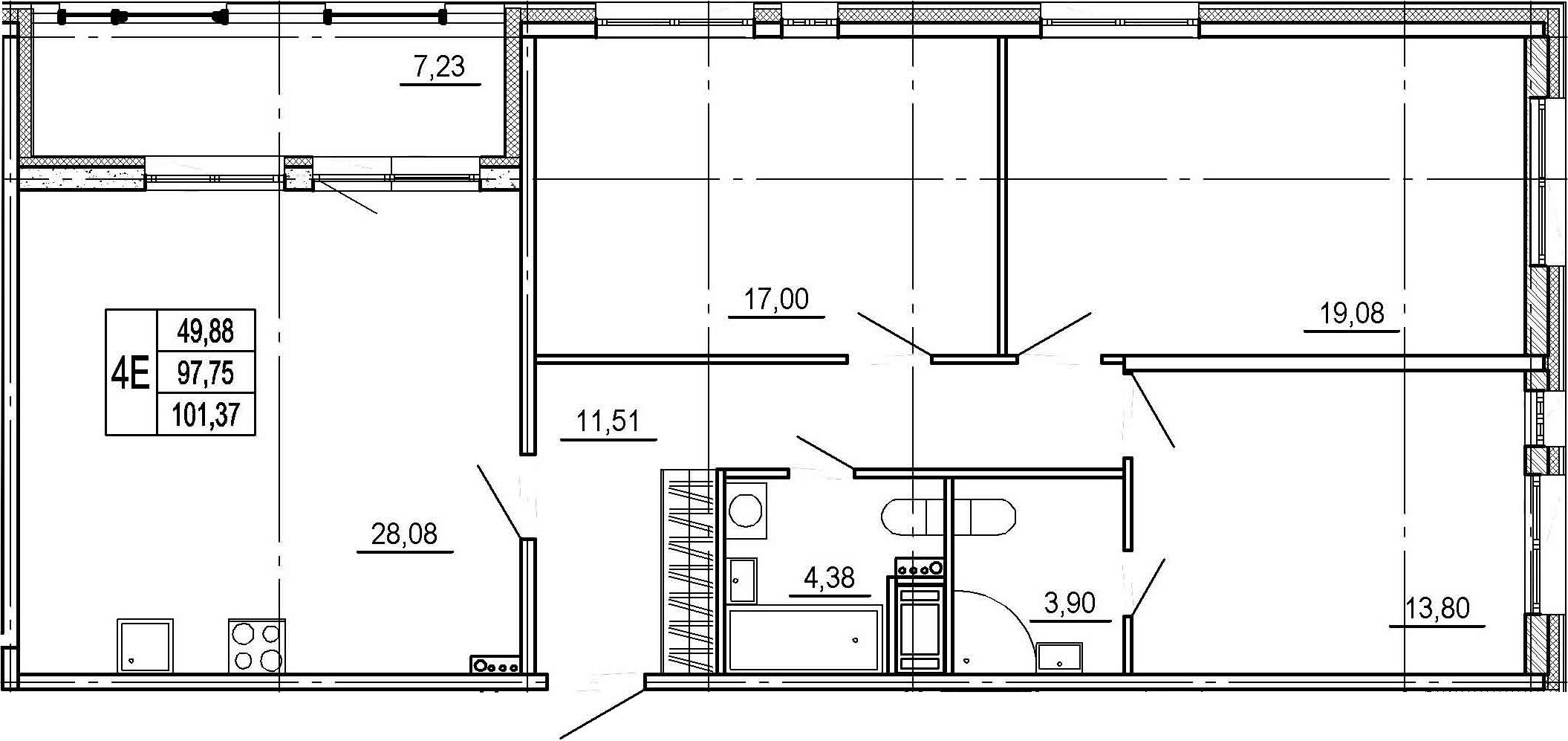 4-к.кв (евро), 104.98 м²