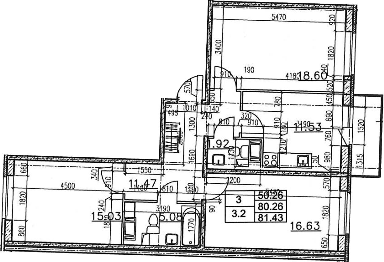 3-к.кв, 84.17 м²