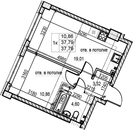 2Е-к.кв, 37.79 м²