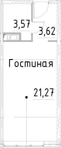 Студия, 28.46 м²