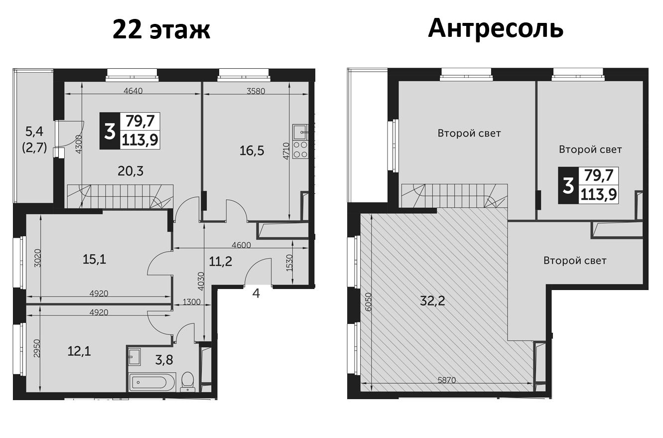 4-к.кв (евро), 116.6 м²