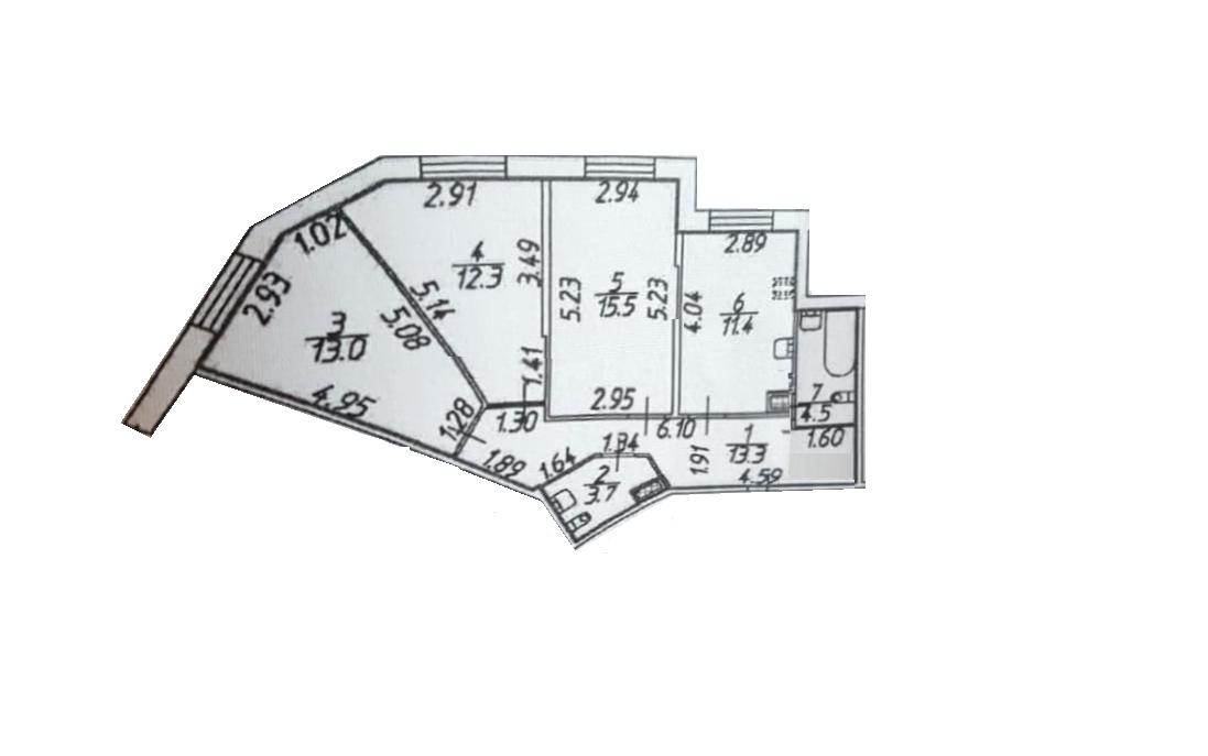 3-к.кв, 73.7 м²